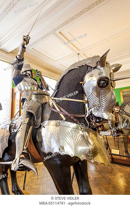 England, London, The Wallace Collection Museum, Display of Medieval Armour, Knight of Horseback