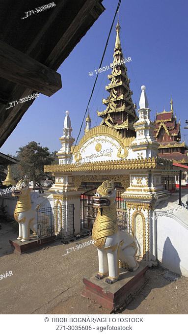 Myanmar, Mon State, Kawhnat-Kadoe, Hna Kyeik Shit Su Wut, buddhist shrine,