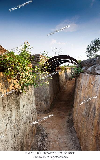 Vietnam, DMZ Area, Quang Tri Province, Khe Sanh, Former Khe Sanh US Combat Base, museum, exterior bunker