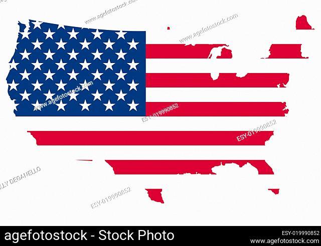 usa flag border