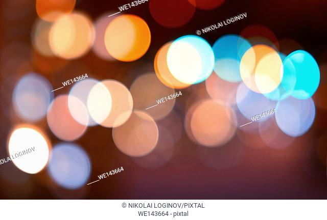 Horizontal colorful bokeh background