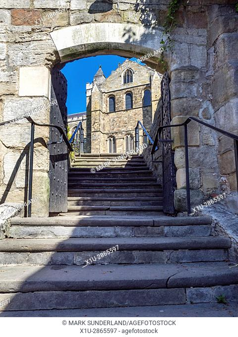 Steps and the South Transept at Ripon Cathedral Ripon North Yorkshire England