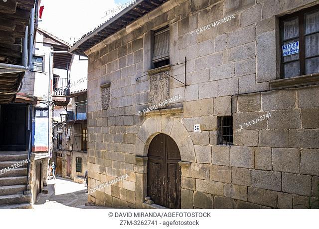 Casa noble en Miranda del Castañar. Sierra de Francia. Salamanca. Castilla León. España