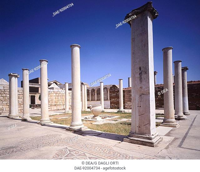 The marble Court in the city of Sardis, the capital of Lydia during the reign of King Croesus, Turkey. Greek civilisation, 5th Century BC