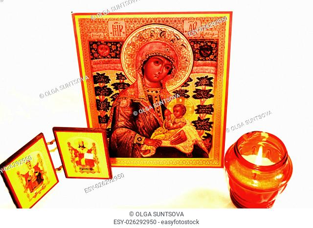 icon, orthodox, face, holy, religion, church, Mother of God, Jesus