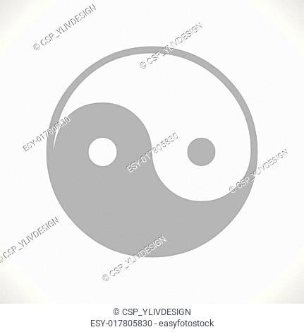 Yin Yang black icon
