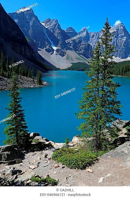 Spectacular Lake Moraine, located in Banff National Park, Alberta, Canada