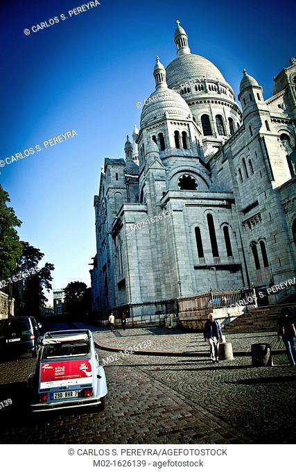 Basilique du Sacré-Coeur, Montmartre district, Paris, France, Europe