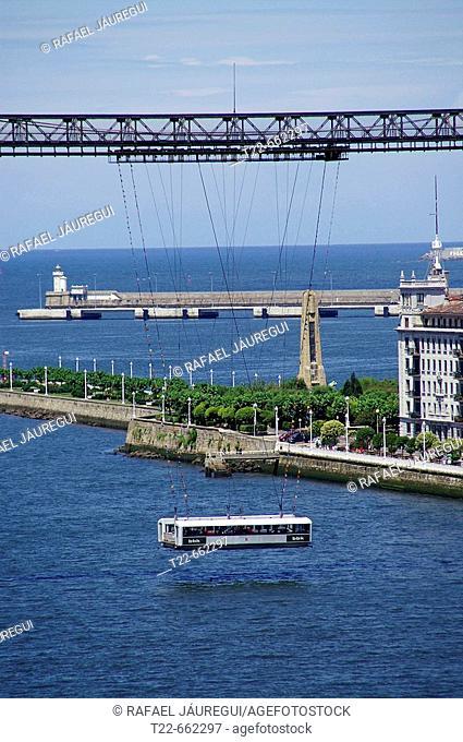 Suspension bridge. Portugalete-Getxo. Bizkaia. Euskadi. Spain