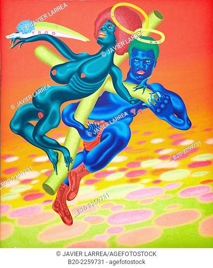 Bewtiful & Stwong, 1971. Peter Saul. Centre George Pompidou. Musee National d'Art Moderne. Paris. France