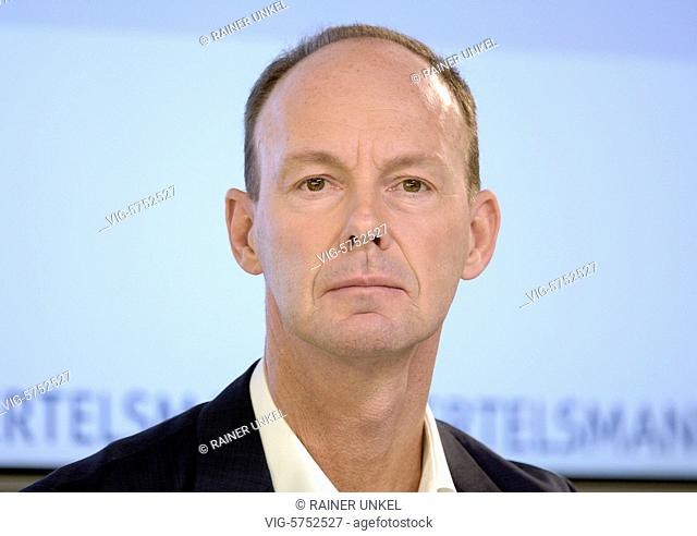 Annual press conference of Bertelsmann SE on 28.03.2017 : Thomas RABE , CEO - Berlin, Berlin, Germany, 28/03/2017
