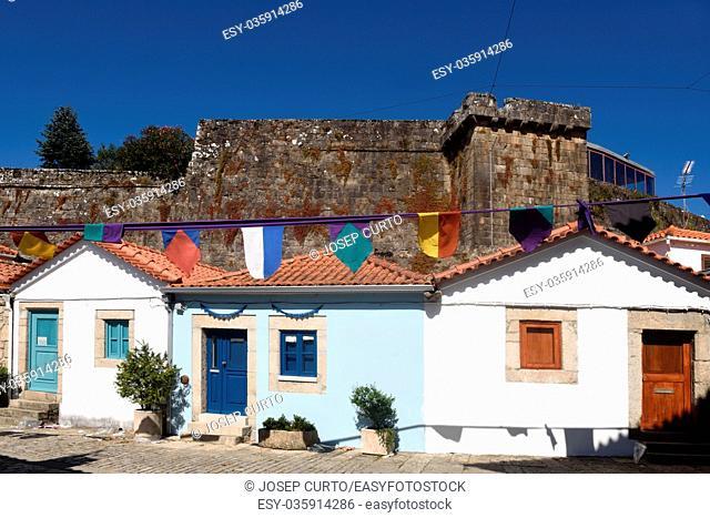 house and castle of Vila Nova de Cerveira, Alto, Minho, Portugal
