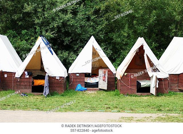 tents, children holidays camp, Czech Republic