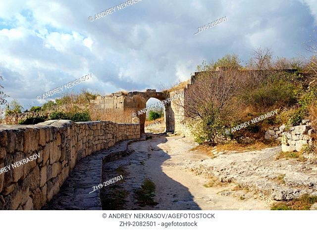 Çufut Qale, Chufut-Kale Jewish Fortress, cave city. Crimea, Ukraine, Eastern Europe