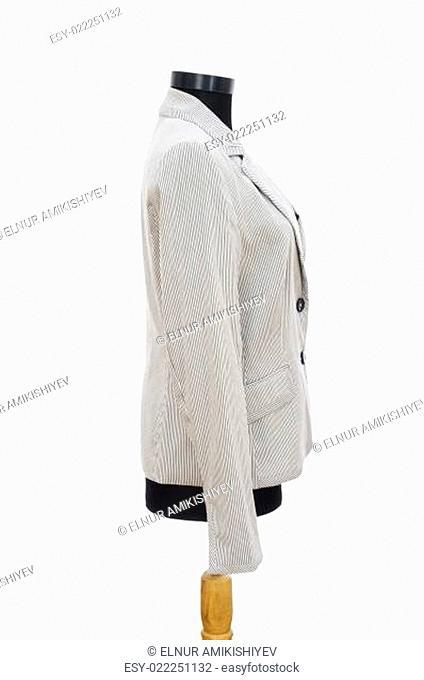 Stylish jacket isolated on the white background
