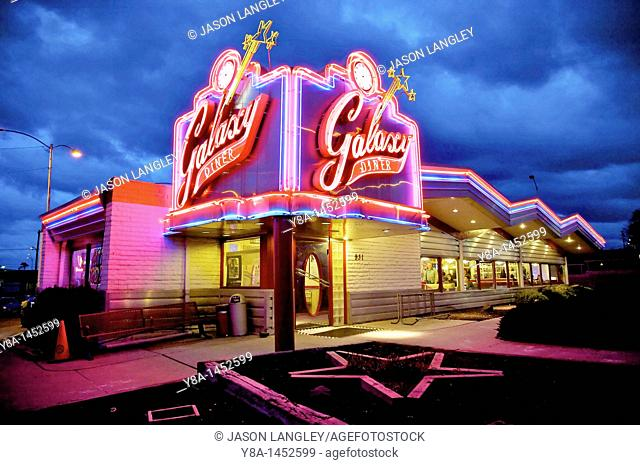 Galaxy Diner, Original site of Bub's 1950s Diner, Historic Route 66, Flagstaff, Arizona, United States