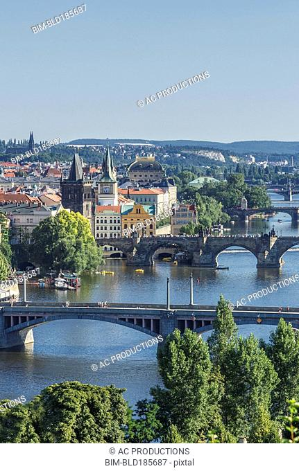 Bridges over Prague river, Prague, Czech Republic