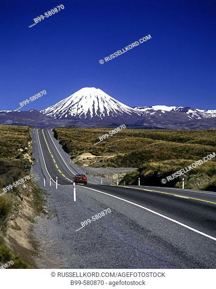 Scenic Mount Ngauruhoe, Tongariro National Park, New Zealand