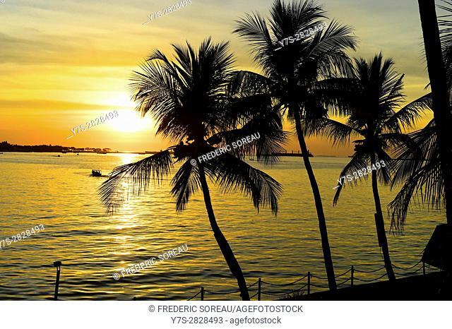 Sunset at Makassar,(formerly Ujung Pandang), Sulawesi island,Indonesia