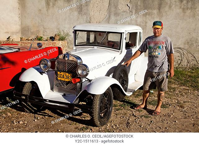 Cuba, Trinidad  Ford Model B and Owner