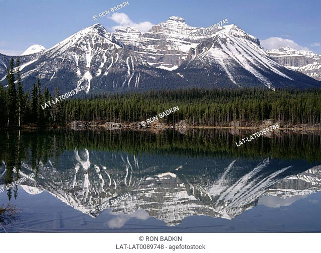 The Vermilion Lakes are a series of lakes west of Banff National Park which is Canada's oldest national park,established in 1885 in the Rocky Mountains