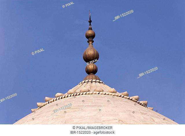 Detail, roof, Taj Mahal, Agra, Uttar Pradesh, India, Asia