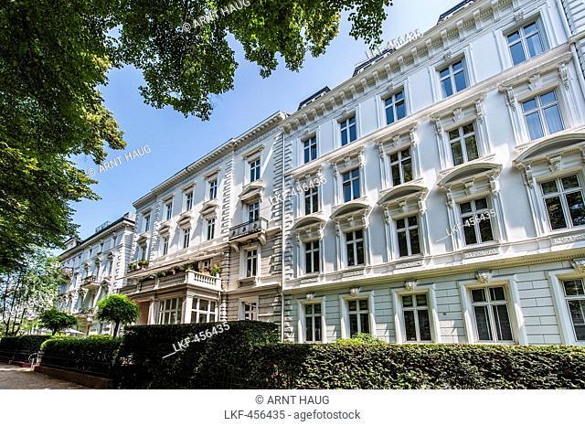 Art Nouveau houses, Hamburg Rothenbaum, Germany