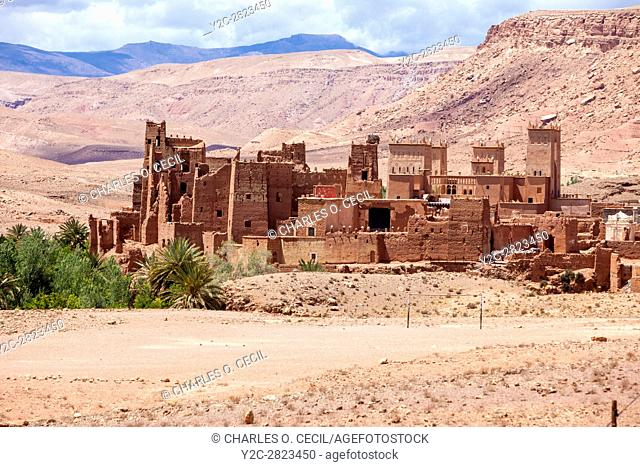 Morocco. Tamdaght Ksar, an Historic Glaoui Settlement