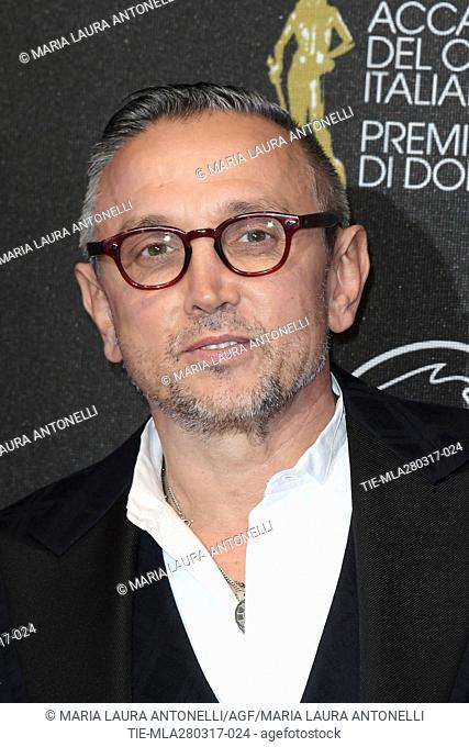 The chef Bruno Barbieri during the red carpet of David di Donatello Awards, Rome, ITALY-27-03-2017