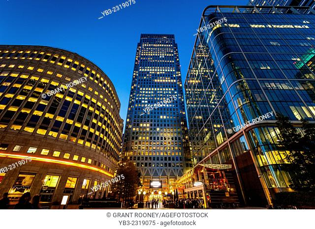Canary Wharf Financial District, London, England