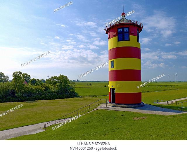 Pilsum lighthouse, Krummhörn, East Frisia, Germany