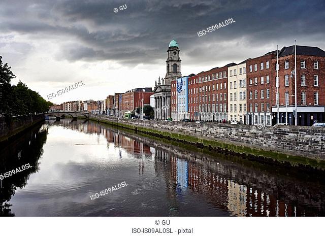 View of Liffey river, Dublin, Republic of Ireland