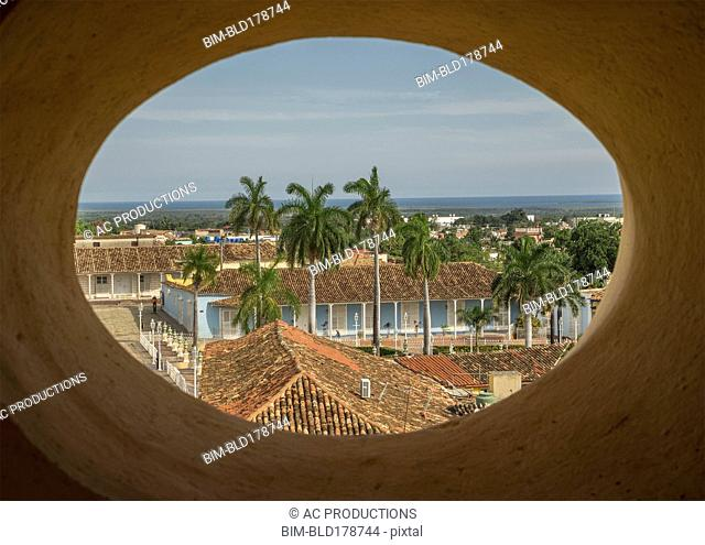Window with view of Trinidad cityscape, Sancti Spiritus, Cuba