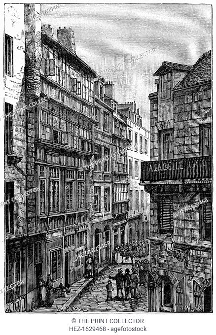 Home of René Duguay-Trouin, Saint-Malo, 1898. A print from Les Français Illustres, by Gustave Demoulin, Hachette, Paris, 1898