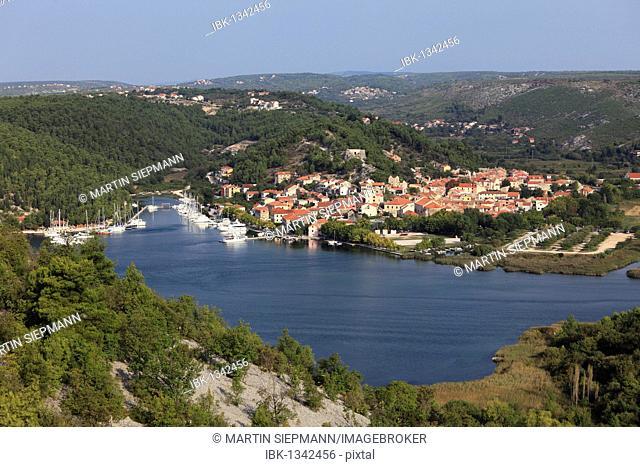 Skradin, Krka River, aeibenik-Knin, Dalmatia, Croatia, Europe
