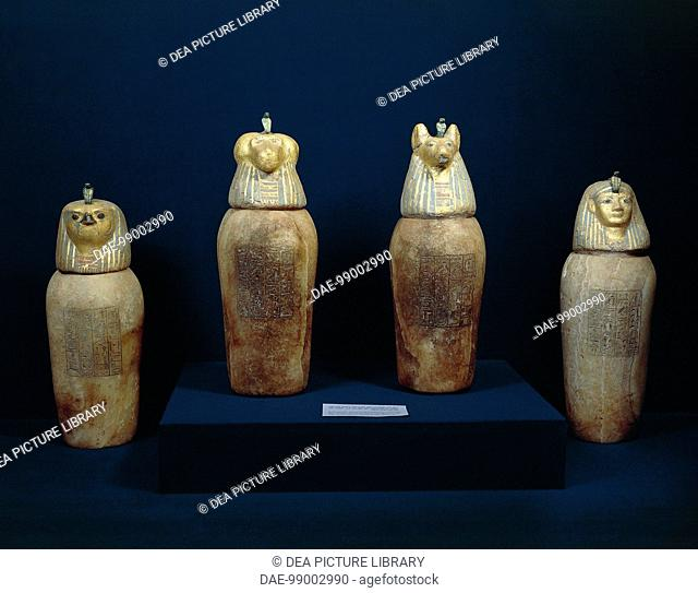 Painted Canopic Jar Stock Photos And Images Age Fotostock