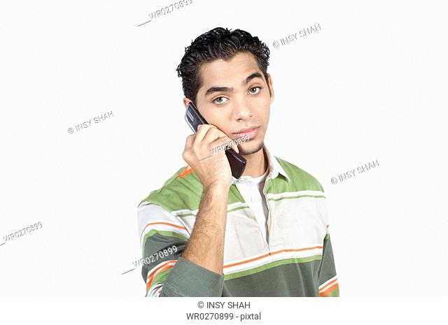 Young man with cell phone