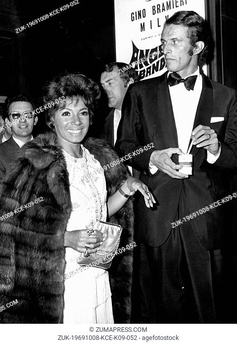Oct 08, 1969; Rome, Italy; British singer SHIRLEY BASSEY and her husband FRANCO NOVAK at the Sistina Theatre. (Credit Image: © Keystone Press Agency/Keystone...