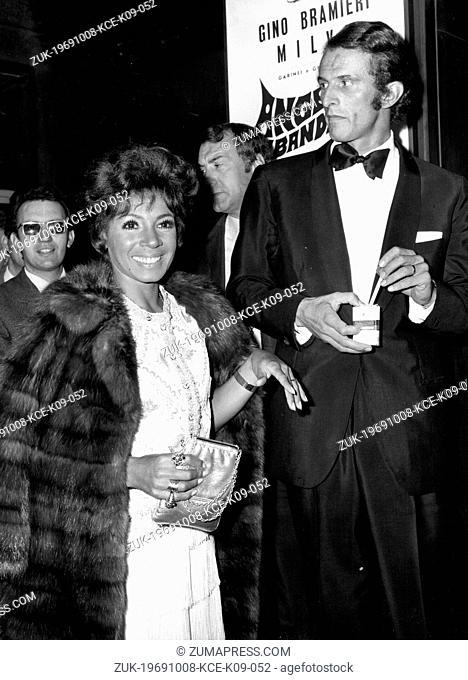 Oct 08, 1969; Rome, Italy; British singer SHIRLEY BASSEY and her husband FRANCO NOVAK at the Sistina Theatre. (Credit Image: © Keystone Press Agency/Keystone...