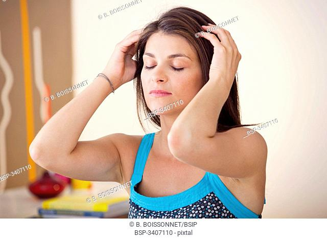 WOMAN BEING MASSAGED Model