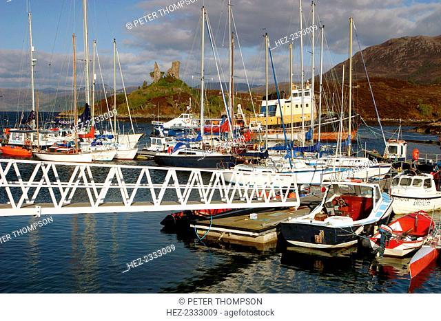 Kyleakin Harbour and Castle Moil, Skye, Highland, Scotland
