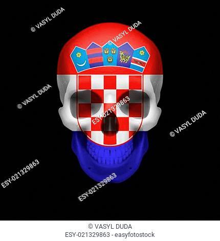 Croatian flag skull