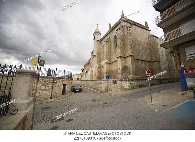 St Antolin church Tordesillas monumental town in Valladolid Castile Leon Spain