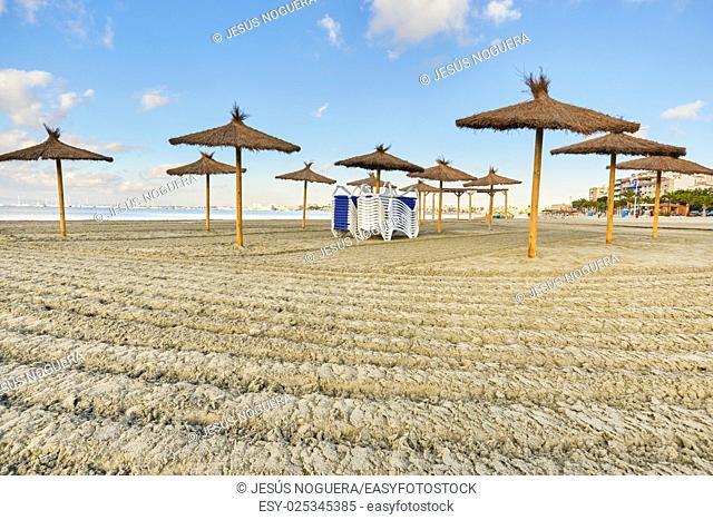 Beach in La Manga, Murcia. Spain