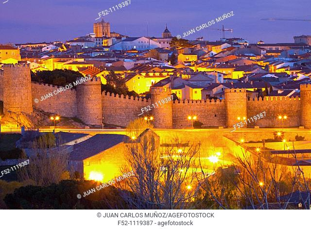 City walls, Avila, Castilla-Leon, Spain