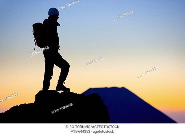 Mount Ruapehu. Mountaineering. New Zealand