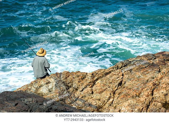 Fishing on Mutton Bird Island, Coffs Harbour, New South Wales, Australia