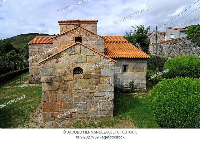 Visigothic church of Santa Comba in Bande.Ourense province.Galicia.Spain
