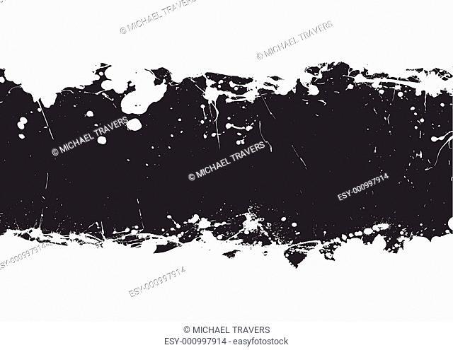 black ink splat banner