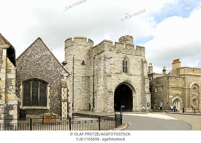 The Westgate is a medieval gatehouse in Canterbury, Kent, England  This 60-foot-high western gate of the city wall is the largest surviving city gate in England